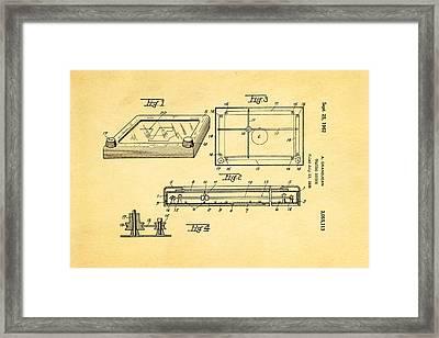 Grandjean Etch A Sketch Patent Art 1962 Framed Print by Ian Monk