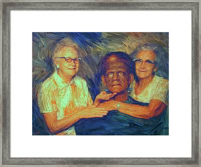 Grandma And Aunt With Frank Framed Print
