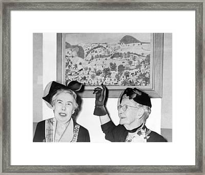 Grandma Moses Framed Print