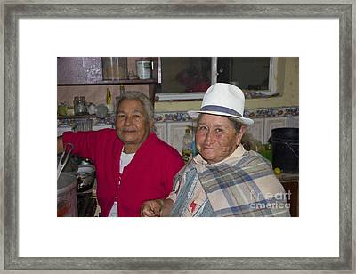 Grandmas At Carnaval Framed Print by Al Bourassa