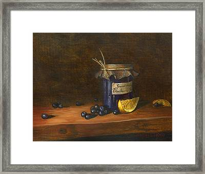 Grandma's Blueberry Jam Framed Print