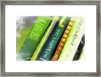 Grandma's Cookbooks Framed Print