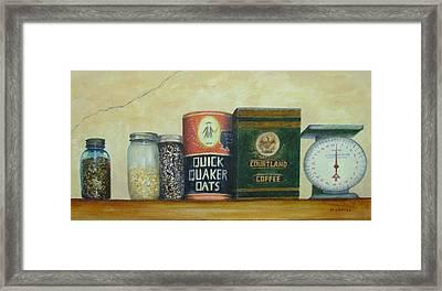 Grandma's Cupboard Framed Print by Elizabeth Crabtree