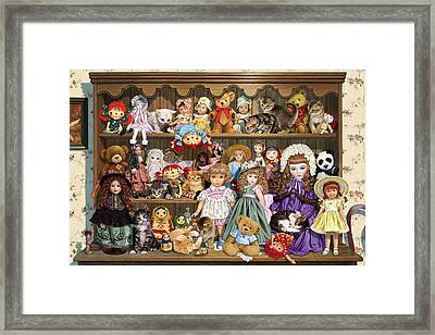 Grandmas Dresser Framed Print