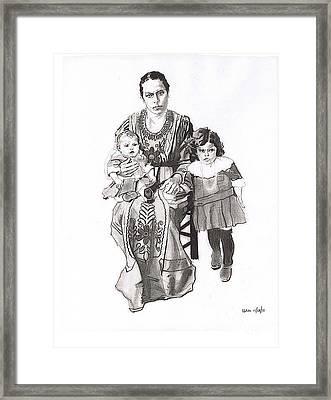Grandma's Family Framed Print