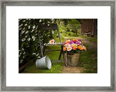 Grandma's Flowers Framed Print