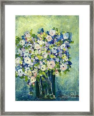 Grandma's Flowers Framed Print by Sherry Harradence