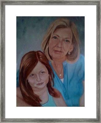 Grandma's Girl Framed Print