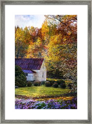 Grandma's House Framed Print by Debra and Dave Vanderlaan