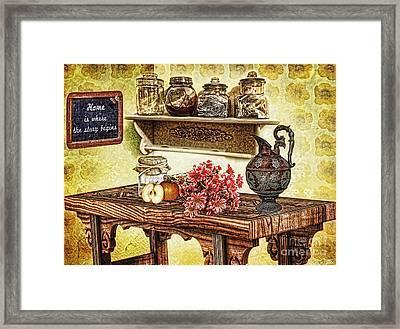 Grandma's Kitchen Framed Print by Mo T
