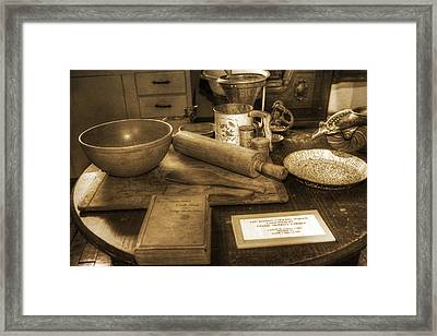 Grandma's Kitchen Table Framed Print by David Simons