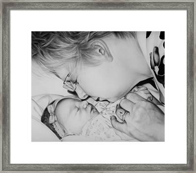 Grandma's Love Framed Print by Natasha Denger