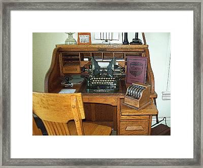 Grandma's Office Framed Print by MJ Olsen