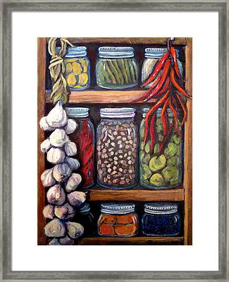 Grandma's Pantry Framed Print by Gretchen Allen