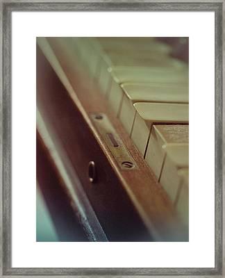 Grandmas Piano Framed Print