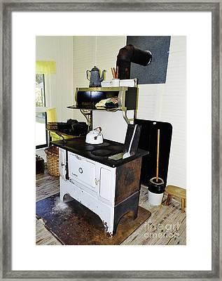 Grandma's Stove Framed Print by D Hackett
