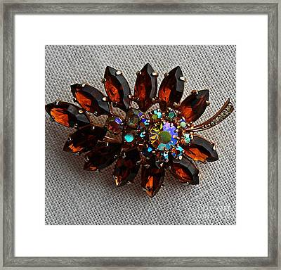 Grandmas Topaz Brooch - Treasured Heirloom Framed Print by Barbara Griffin