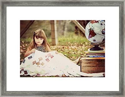 Granny's Quilt Framed Print