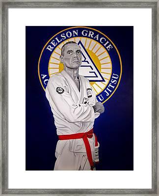 Grandmaster Relson Gracie Framed Print