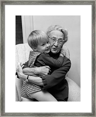 Grandmother And Grandson, C.1960s Framed Print
