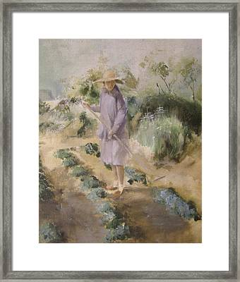 Grandmother Margaret's Garden Framed Print by Terri Ana Stokes