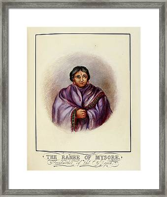 Grandmother Of The Rajah Framed Print