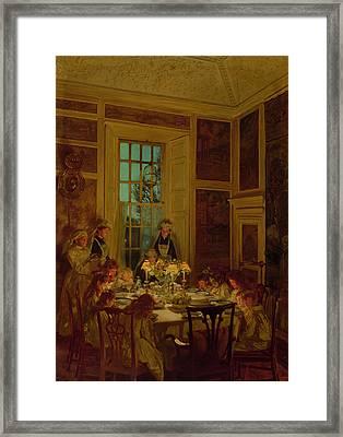 Grandmothers Birthday Framed Print by John Henry Lorimer