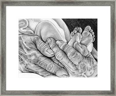 Grandmother's Hands Framed Print by Penny Collins