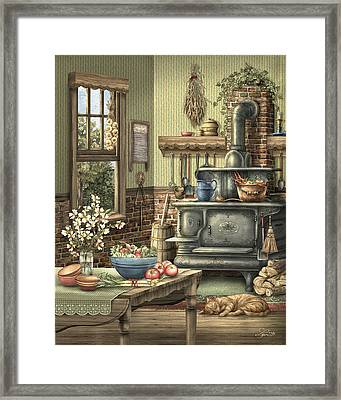 Grandmother's Kitchen Framed Print by Beverly Levi-Parker
