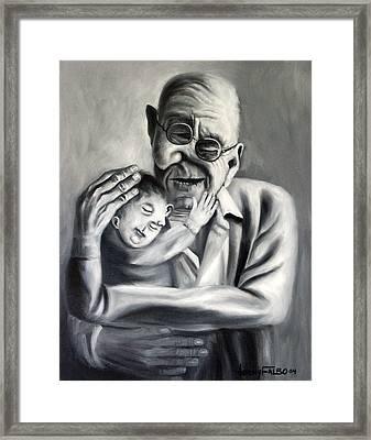 Grandpa Framed Print by Anthony Falbo