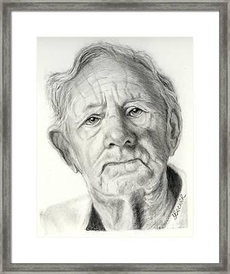 Grandpa Full Of Grace Drawing Framed Print