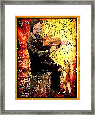 The Music Lover. Framed Print by Larry Lamb