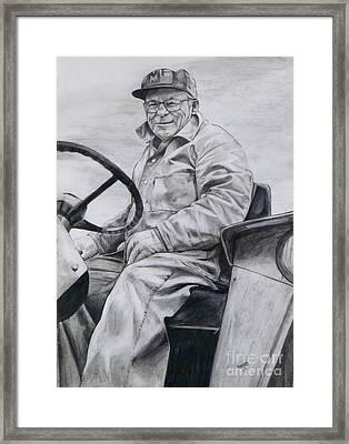 Framed Print featuring the drawing Grandpa by Joy Nichols