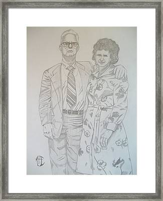 Grandparents Of Late 1970s Framed Print by Justin Moore