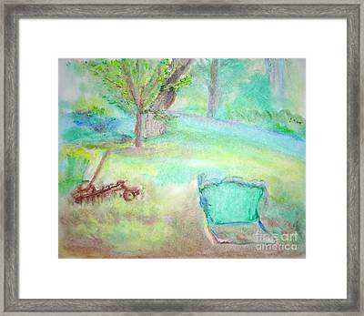Grandpa's Backyard Framed Print by Helena Bebirian