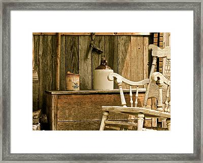 Grandpa's Front Porch Framed Print by Penny Meyers