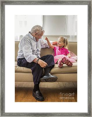 Grandpa's Little Princess Framed Print by Diane Diederich