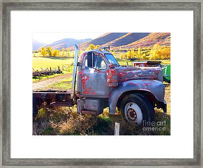 Framed Print featuring the photograph Grandpa's Mack Truck by Jackie Carpenter