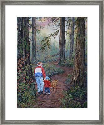 Grandpa's Pathway  Framed Print