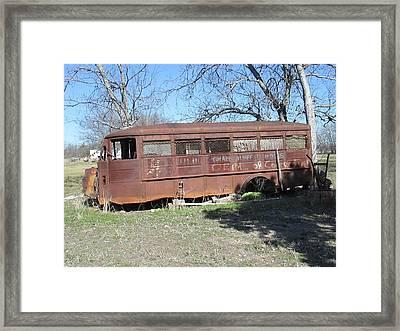Grandpas School Bus Framed Print by Rosalie Klidies