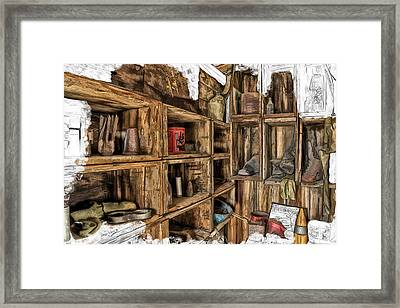 Grandpa's Shed Framed Print by David Wagner