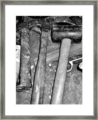 Grandpa's Tools Framed Print