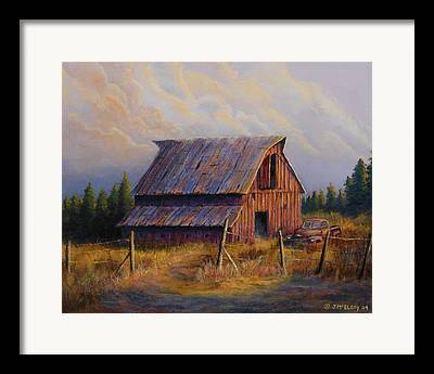 Barbed Wire Fences Paintings Framed Prints