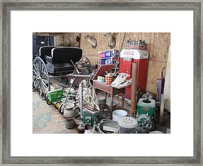 Grandpop's Garage Framed Print