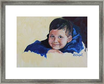 Grandson Framed Print by Michael McDougall
