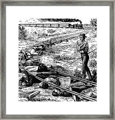 Grange Cartoon, 1873 Framed Print by Granger