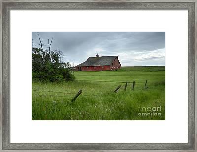 Grangeville Barn Framed Print