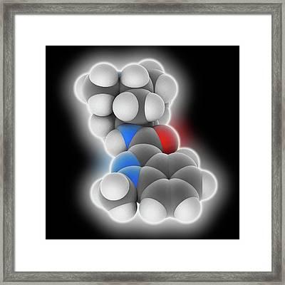Granisetron Drug Molecule Framed Print by Laguna Design
