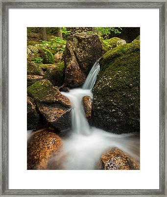 Granite Cascade Framed Print