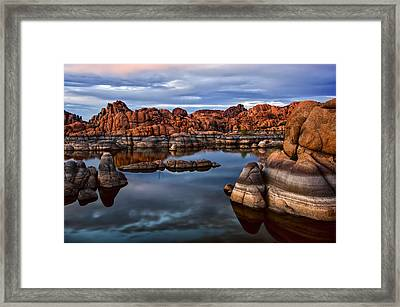 Granite Dells At Watson Lake Arizona 2 Framed Print